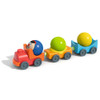 HABA Kullerbu Engineer Egon's Train with Plastic Locomotive, 2 Wagons and 3 Wooden Balls - Ages 2+