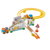 HABA Kullerbu at The Construction Site Play Track - 13 Piece Starter Set with 2 Vehicles and Ball Drop - Ages 2 and Up