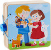 HABA Animal Kids Mothers & Babies Wooden Baby Book with Easy Turn Pages - Ages 10 Months and Up