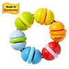 Clatterit Wooden Clutching Toy with Plastic Rings view3