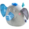 HABA Clutching Toy Noah The Elephant - Soft Plush Machine Washable Baby Toy with Squeaking Noise for Ages 6 Months +