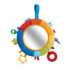 HABA Rainbow Discovery Mirror - Hang from Crib or Use as a Pillow with Entertaining Elements for Baby to Explore