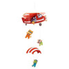 HABA Mobile Parachuters Colorful Wooden Mobile for Cribs & Changing Tables
