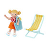 Little Friends Tina the Beachgoer Doll with Lounge Chair