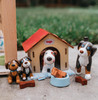 Little Friends Brown and Tricolor Puppies Play Set view4
