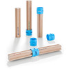 HABA Kullerbu Expansion Set - Tall Columns - 10 Piece Set for Creating Extra Tall Ball Track Layouts