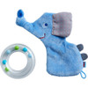 Elephant Rattle with Removable Teething Ring