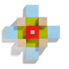 Four by Four 3D Arranging Game Wooden Building Blocks view5