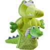 Glove Puppet Crocodile With Baby Hatchling Finger Puppet