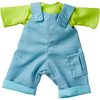 """HABA Play Time Outfit for 12"""" HABA Soft Dolls - Gender Neutral Shirt & Overalls"""