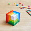 3D Rainbow Cube Arranging Game view10