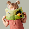 Orchard Fabric Baby Book with Raven Finger Puppet