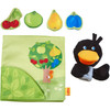 Orchard Fabric Baby Book with Raven Finger Puppet view5