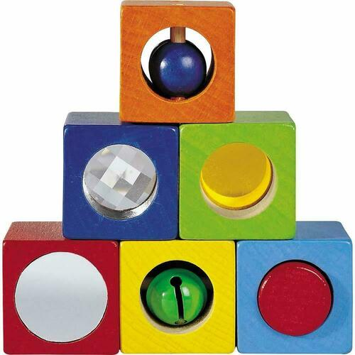 HABA Discovery Blocks - 6 Colorful Cubes with Unique Effects for Ages 1 and Up (Made in Germany)