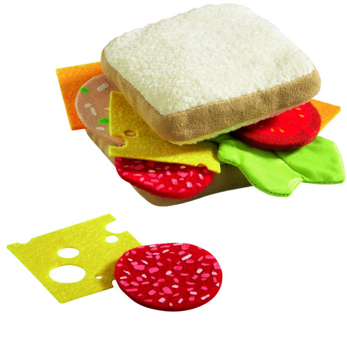 HABA Biofino Sandwich Soft Play Food - 12 Piece Set with Two Slices of Bread and Loads of Toppings