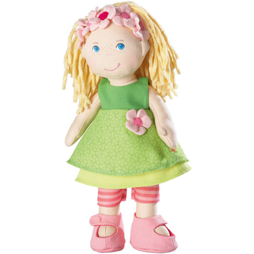 """HABA Mali 12"""" Soft Doll with Blonde Hair, Blue Eyes and Embroidered Face for Ages 18 Months and Up"""