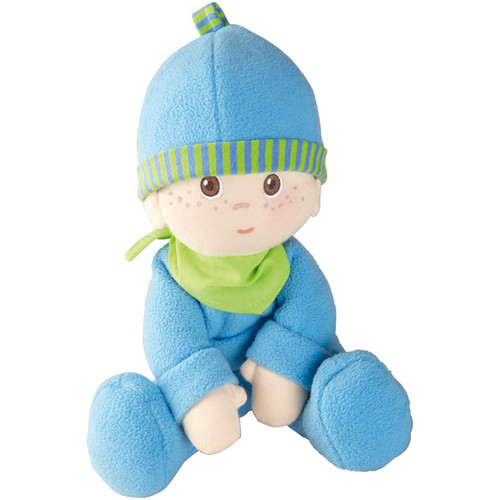 """HABA Snug-up Doll Luis 8"""" First Boy Baby Doll - Machine Washable for Ages Birth and Up"""