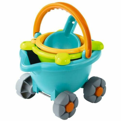 HABA Sand Bucket Scooter - 4 Piece Nesting Beach Toy Set for Toddlers