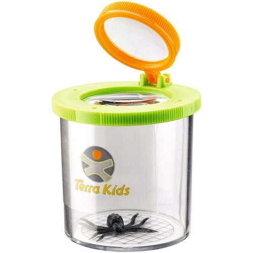 HABA Terra Kids Beaker Magnifier Clear Bug Catcher with two Magnifying Glasses for Children's Nature Exploration