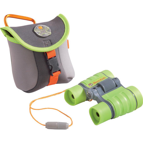 HABA Terra Kids Children's Binoculars - Hiking, Camping, Fishing, Ball games - 4x30 Magnification with Compact Case