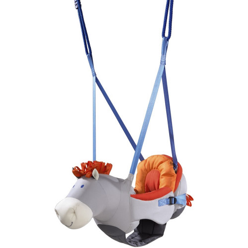 HABA Horse Baby Swing with Removable Back Pad & Adjustable Height & Width for Ages 10 Months +
