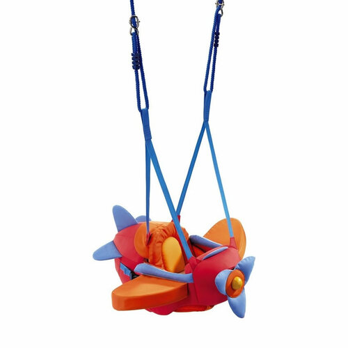 HABA Aircraft Swing Indoor Mounted Baby Swing with Adjustable Straps, Seatbelt & Propeller for Ages 10 Months and Up