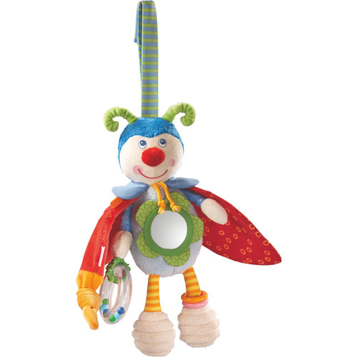 HABA Play Figure Beetle Bodo - Rattling, Rustling & Bouncing Plush Activity Toy for Ages 6 Months +