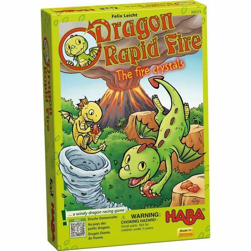 HABA Dragon Rapid Fire Game - A Fast Paced Dice Race Game for Ages 3 and Up (Made in Germany)