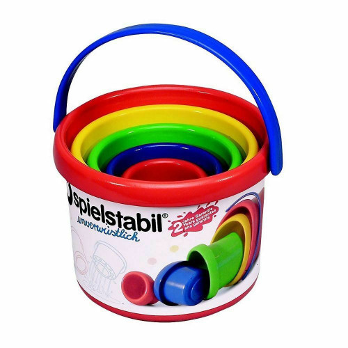 Spielstabil Nesting Stacker - Sturdy 5 Piece Play Set with Carry Handle (Made in Germany)