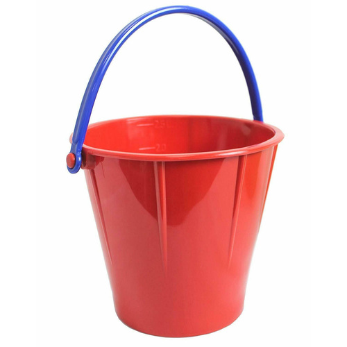 Spielstabil Large Sand Pail - Holds 2.5 Liters - One Included - Colors Vary (Made in Germany)