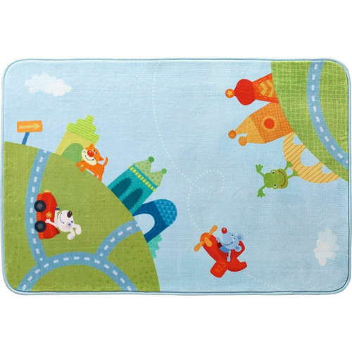 "HABA Children's Room Decor Rug City Tour - Whimsical Soft Play Rug Measures 51.5"" x 35.5"""