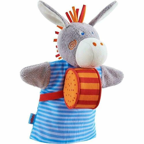 HABA Donkey Musical Glove Puppet with Rattling Drum