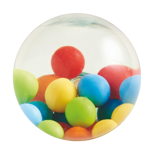 HABA Kullerbu Effect Ball - Plastic Ball with Colorful Balls Inside for use with or Without The Kullerbu Track System
