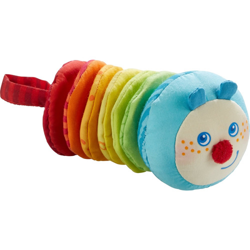 HABA Caterpillar Mina Plush Figure with Vibrating Motion for 6 Months +