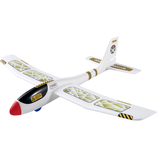 """HABA Terra Kids Maxi Hand Glider with Boomerang Setting - Easy to Assemble 22"""" Sturdy Styrofoam Airplane with Decals"""