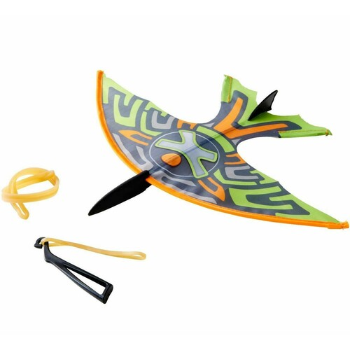 HABA Terra Kids Slingshot Glider - Simple Rubber Band Powered Flying Toy with Great Aerodynamics
