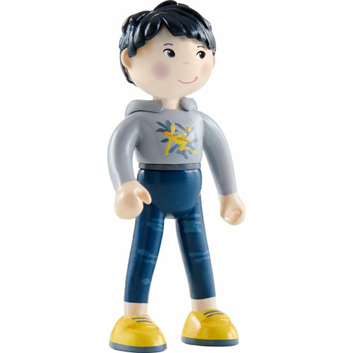 """HABA Little Friends Liam - 4"""" Boy Dollhouse Toy Figure with Black Hair and Asian Skin Tone"""