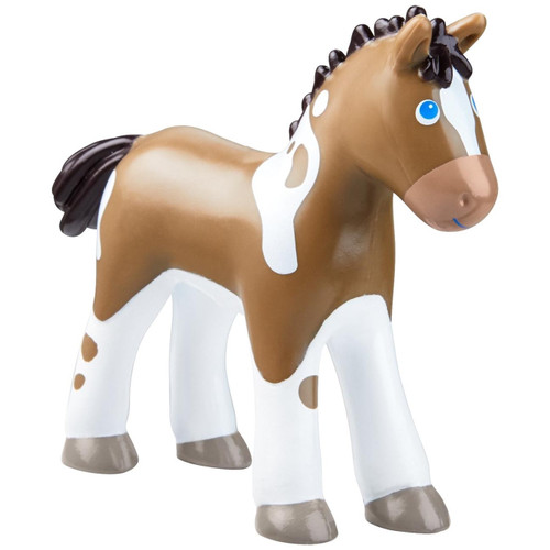 "HABA Little Friends Foal Abby - 3.75"" Farm Animal Toy Horse Figure"