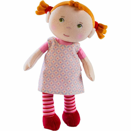 """HABA Snug Up Roya - 10"""" Soft Doll with Fuzzy Red Pigtails and Embroidered Face"""