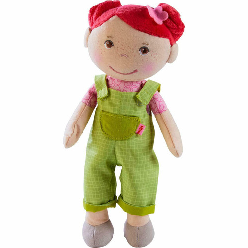 """HABA Snug Up Dorothea - 10"""" Soft Doll with Fuzzy Red Hair and Embroidered Face"""
