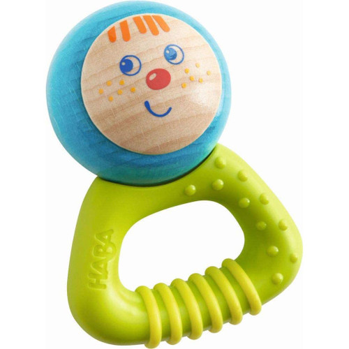 HABA Musical Character Bella - Jingling Rattle, Clutching Toy and Teether