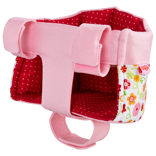 HABA Soft Doll's Bike Seat Flower Meadow - Attaches to Handlebars