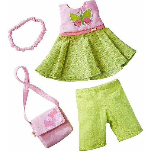 """HABA Butterfly Dress Set - 4 Piece Outfit for 12"""" HABA Soft Dolls"""