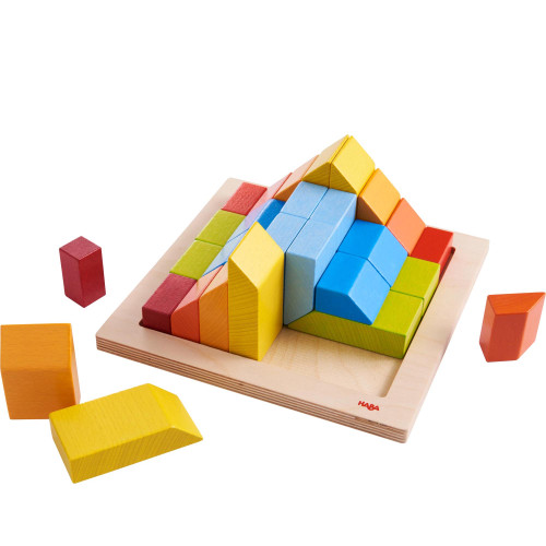 HABA 3D Arranging Game Creative Stones with 28 Wooden Blocks