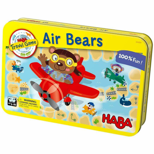 HABA Air Bears - A Compact Magnetic Travel Game for 2-4 Players