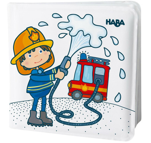 HABA Magic Bath Book Fire Brigade - Wet the Pages to Reveal Colorful Backgrounds in Tub or Pool