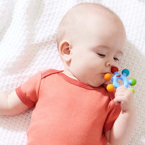Clutching Toy Color Wheel Silicone Teether