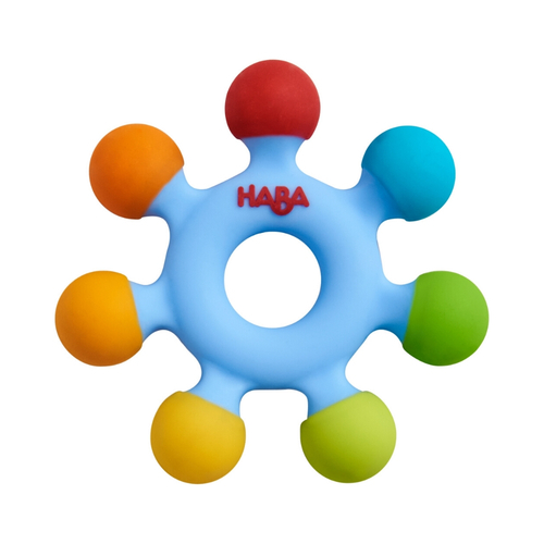 HABA Clutching Toy Color Wheel - Silicone Teether