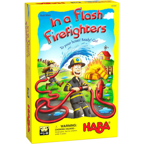 HABA In a Flash! Firefighters - A Racing Arrangement Game for Multiple Age Levels (Made in Germany)
