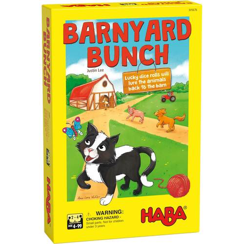 HABA Barnyard Bunch - A Cooperative Roll & Move Game for Ages 4 and Up (Made in Germany)